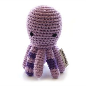 Baby infant nursery plush rattle crochet handmade